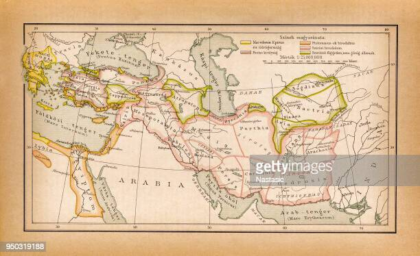 "countries of diadochi ( from greek: διάδοχοι, diádokhoi, ""successors"") were the rival generals, families, and friends of alexander the great who fought for control over his empire after his death in 323 bc - former stock illustrations, clip art, cartoons, & icons"