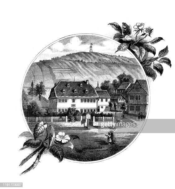 ilustrações, clipart, desenhos animados e ícones de casa de campo - 1887