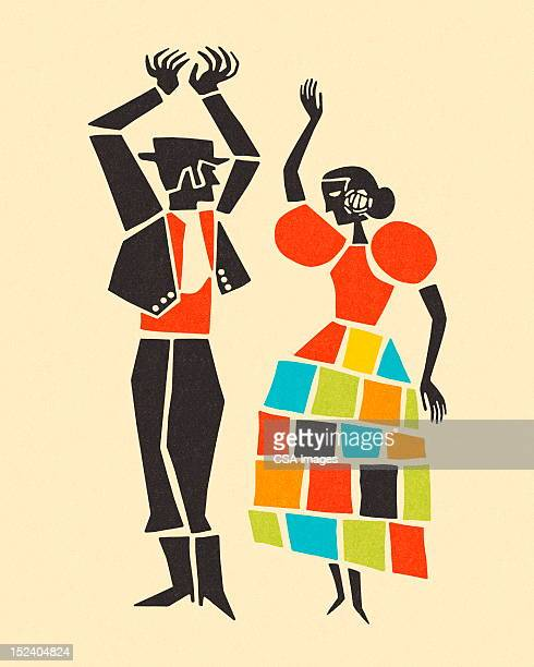 couple dancing - tradition stock illustrations
