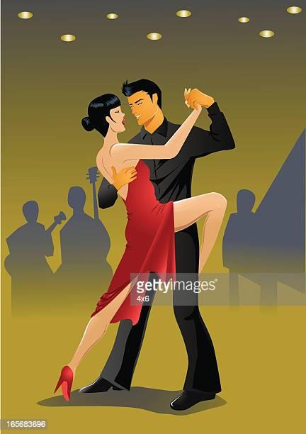 Couple doing the tango dance