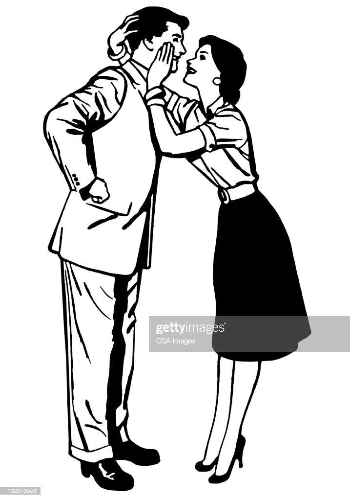 Couple Embracing : stock illustration