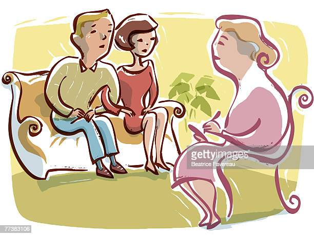 A couple having a marital counselling