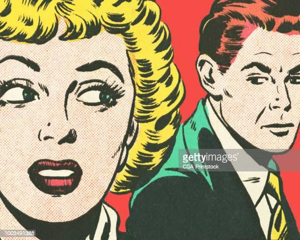 couple - pop art stock illustrations