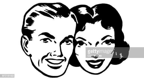 couple - two people stock illustrations