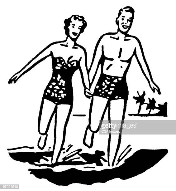 couple - boyfriend stock illustrations, clip art, cartoons, & icons