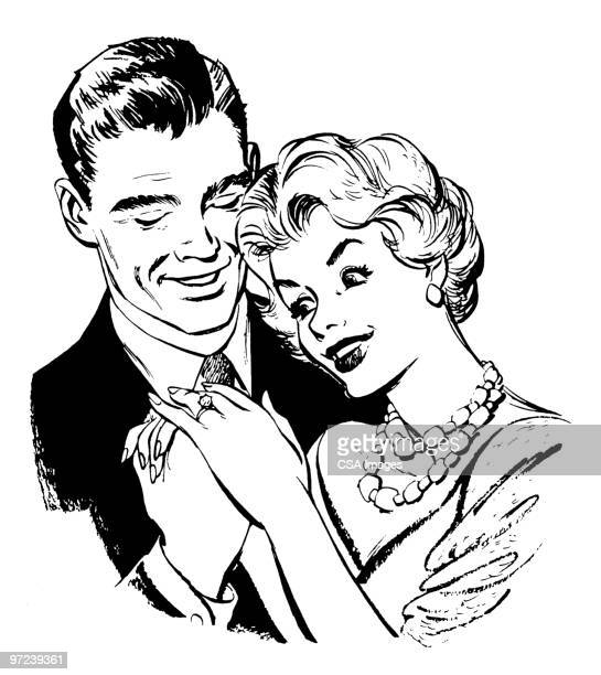 couple - marriage stock illustrations