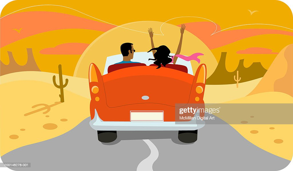 Into the Sunset Clip Art
