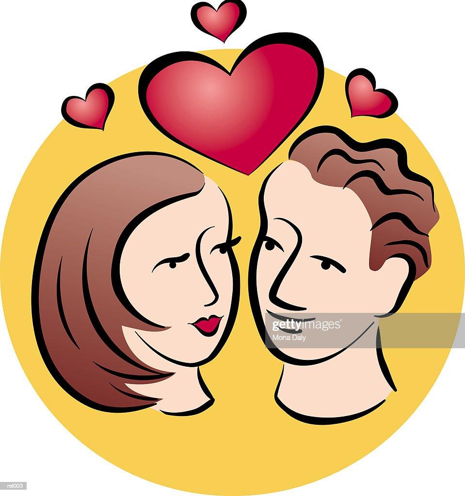 Couple in Love : Ilustração de stock