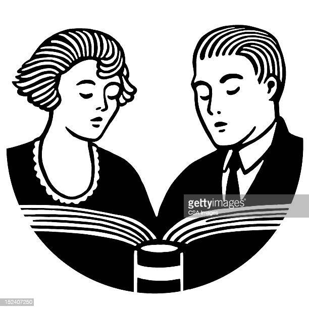 Couple Reading Book