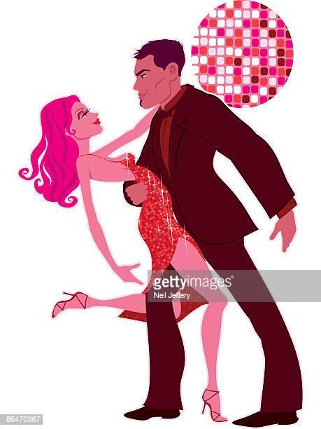 a couple salsa dancing - salsa dancing stock illustrations, clip art, cartoons, & icons