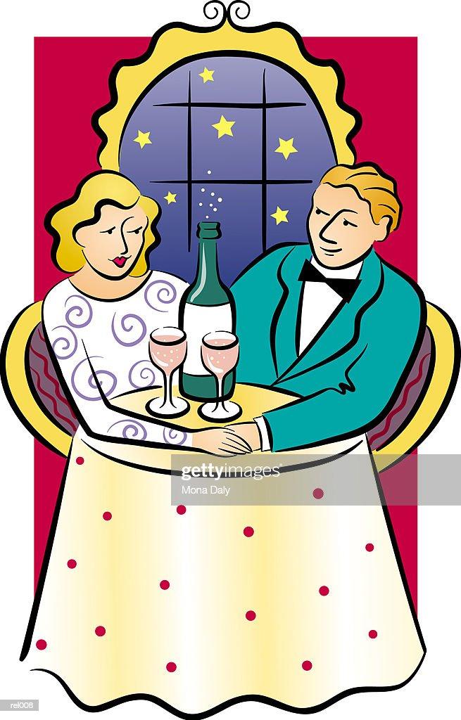 Couple with Champagne : Ilustração de stock