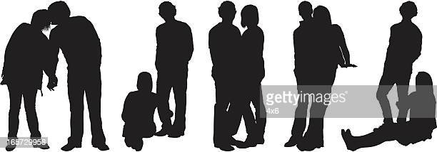 couples - human settlement stock illustrations