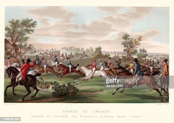 コース ・ ド ・ chevaux、競馬、フランス 18 世紀後半 - horse racing点のイラスト素材/クリップアート素材/マンガ素材/アイコン素材