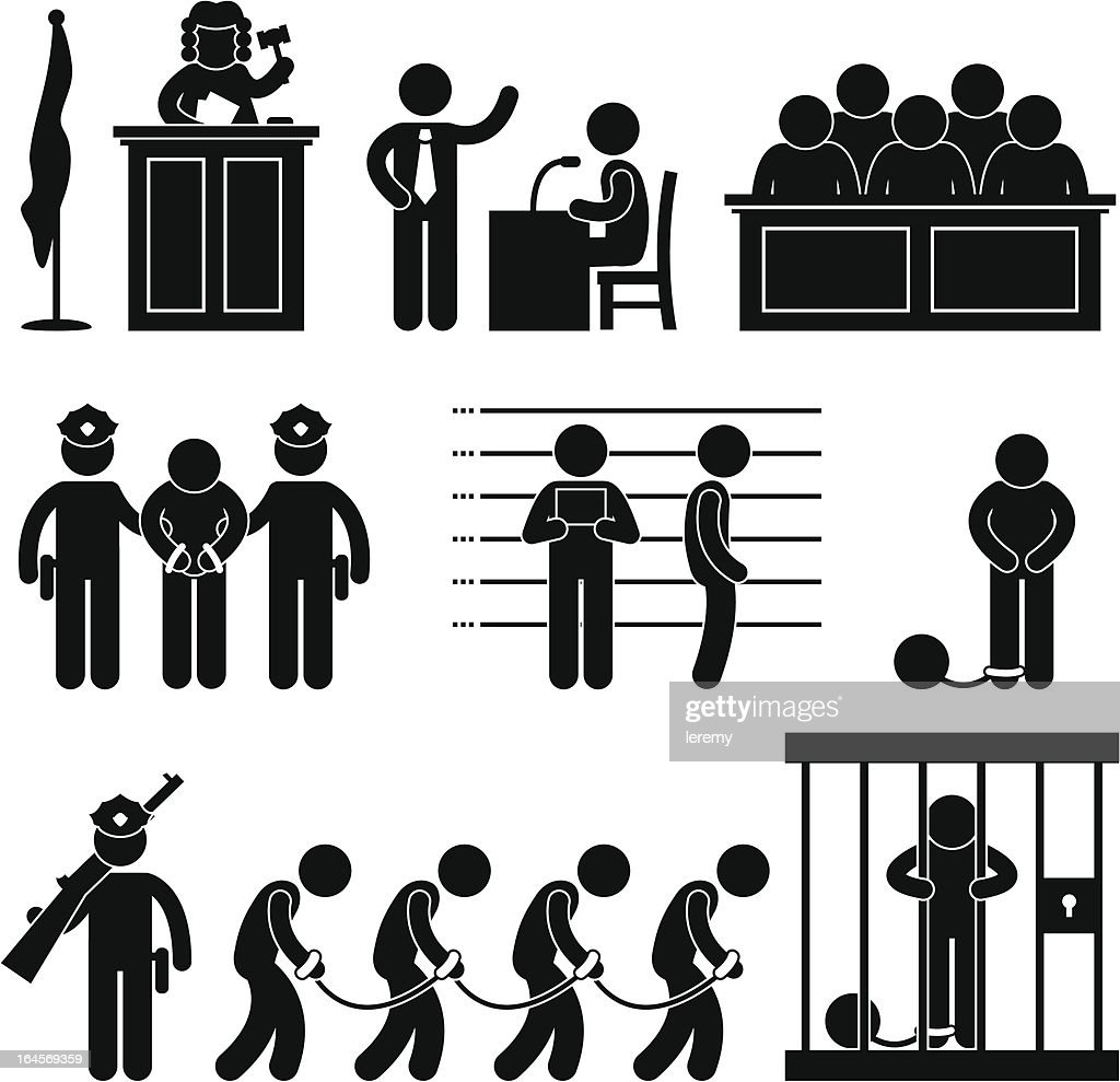 Court and Criminal Pictogram