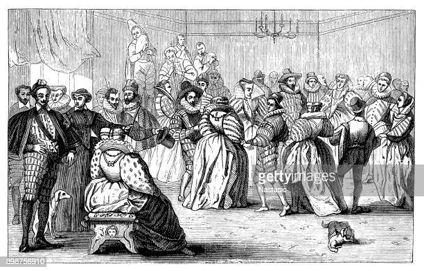 court ball under henry iii - prince royal person stock illustrations