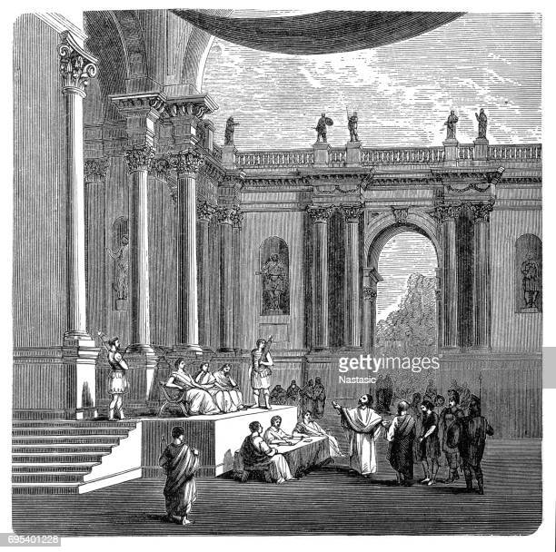 a court in ancient rome - ancient stock illustrations
