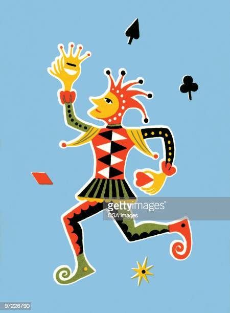 court jester - jester stock illustrations, clip art, cartoons, & icons