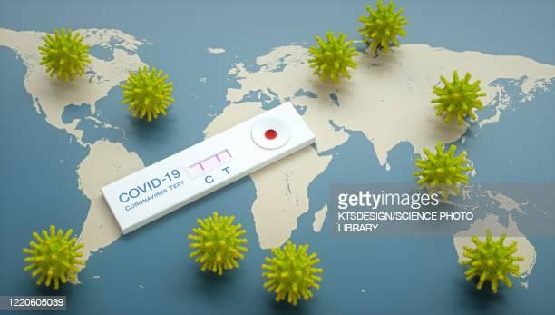 covid-19 coronavirus test, conceptual illustration - coronavirus stock illustrations