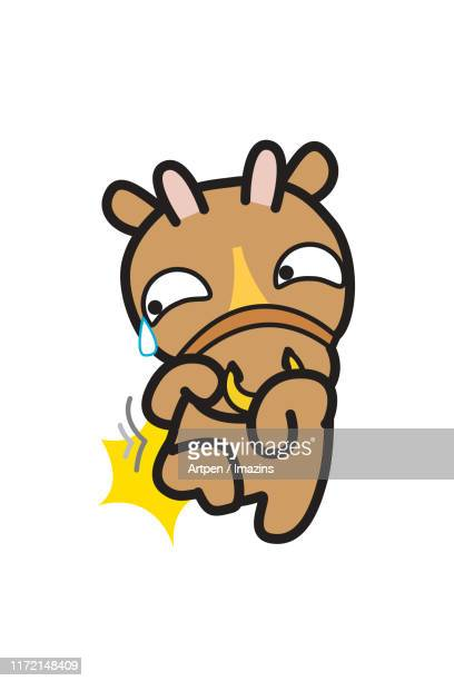 ilustraciones, imágenes clip art, dibujos animados e iconos de stock de cow, illustration, character, chinese zodiac - blowing nose