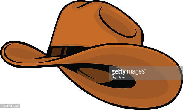 cowboy hat - hat stock illustrations