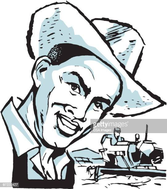cowboy - one young man only stock illustrations