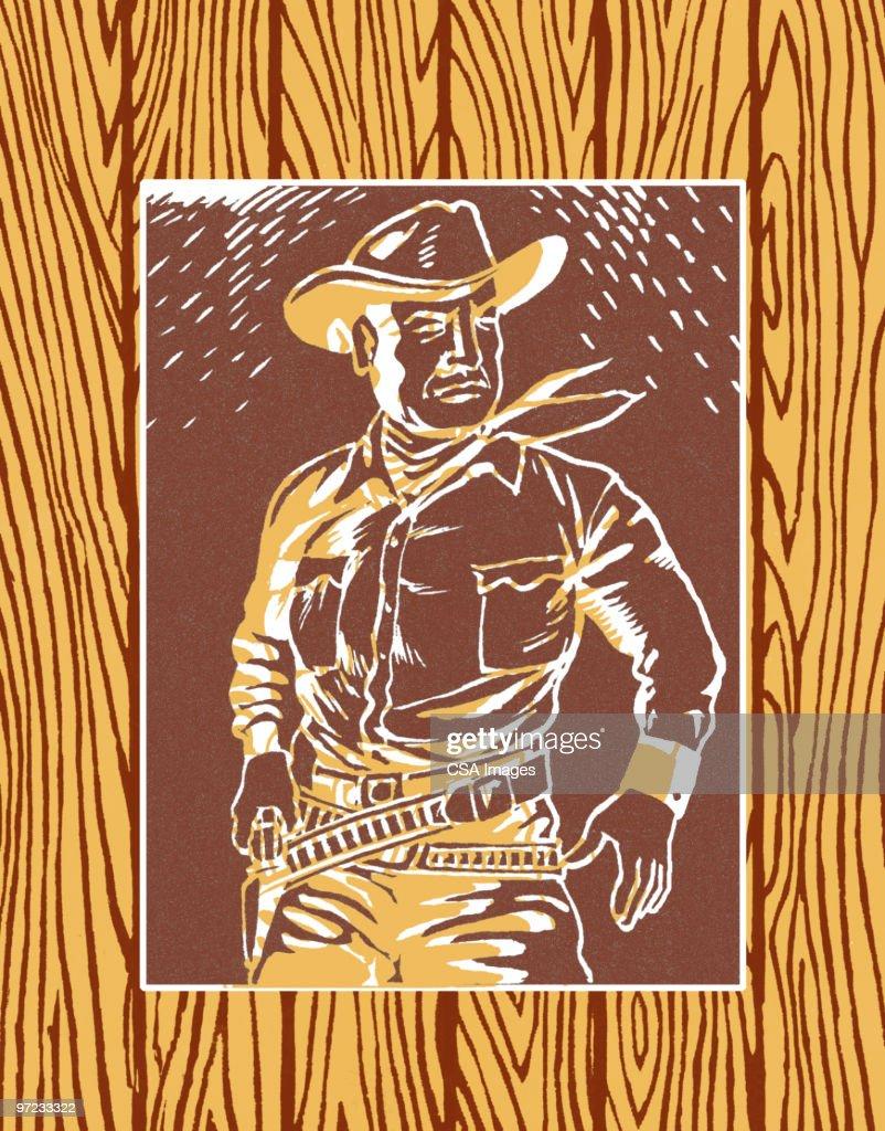 Cowboy : stock illustration
