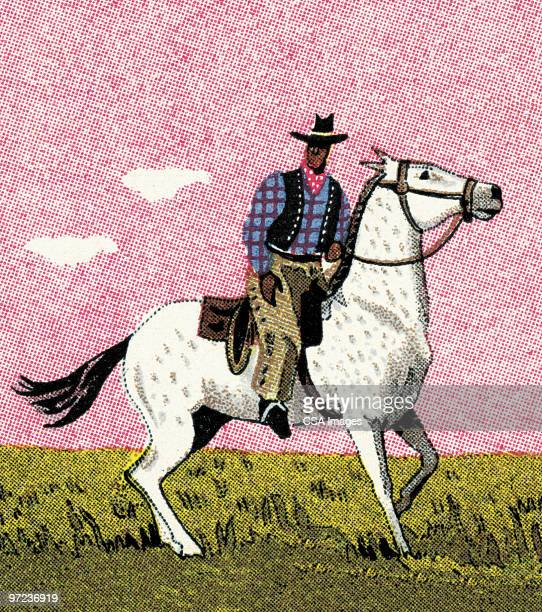 cowboy - image stock illustrations