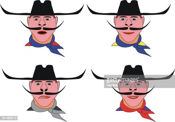 cowboy toon - sneering stock illustrations, clip art, cartoons, & icons