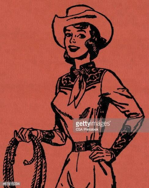 illustrations, cliparts, dessins animés et icônes de cow-girl - cowgirl