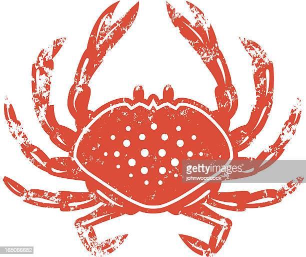 illustrations, cliparts, dessins animés et icônes de crabe au pochoir - crabe