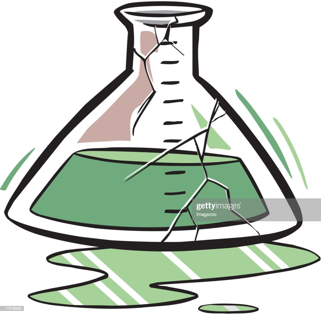 Cracked beaker : Illustration