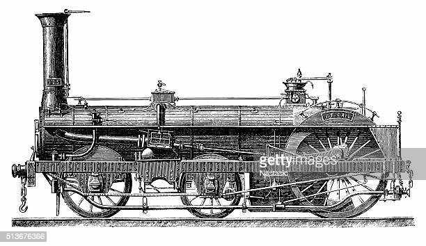 Crampton Steam Locomotive