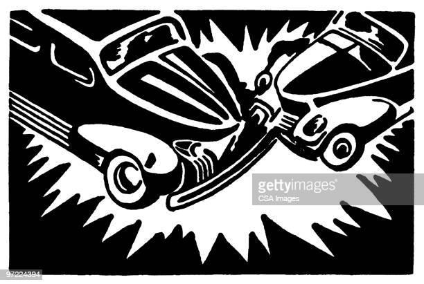 Illustrations et dessins anim s de malchance getty images - Coloriage cars accident ...