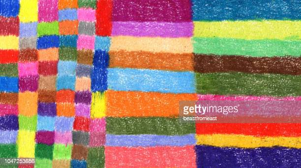 Crayon drawing colourful background pattern
