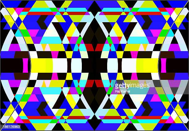 creative shapes abstract design - triangle shape stock illustrations