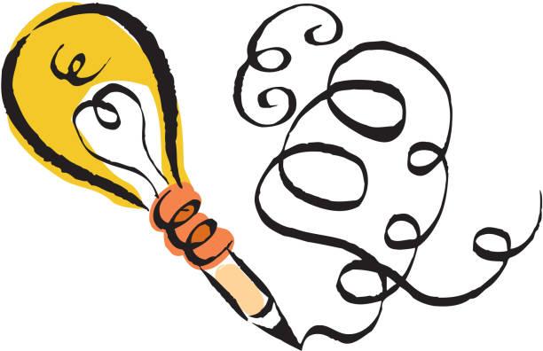 ilustraciones, imágenes clip art, dibujos animados e iconos de stock de creative writing - poesia