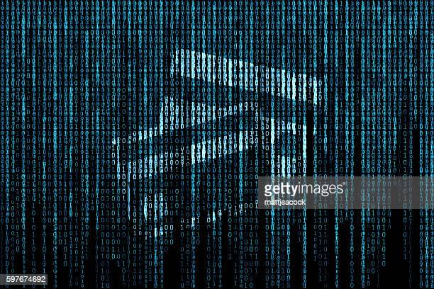 credit card matrix background - corporate theft stock illustrations