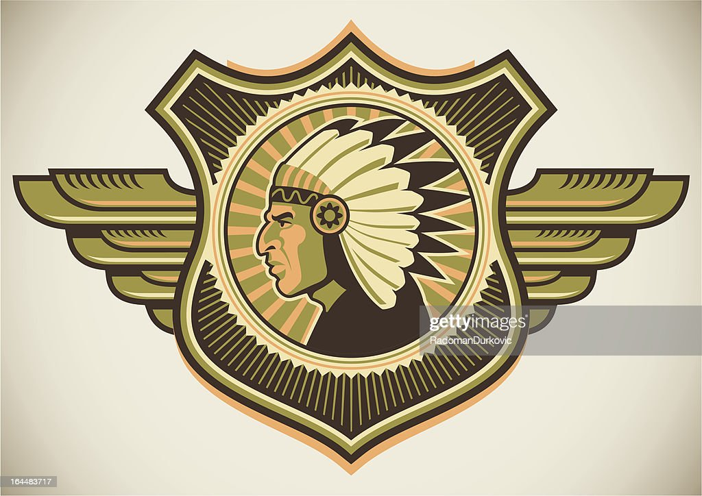Crest with indian.
