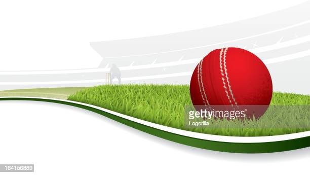 cricket background - cricket ball stock illustrations