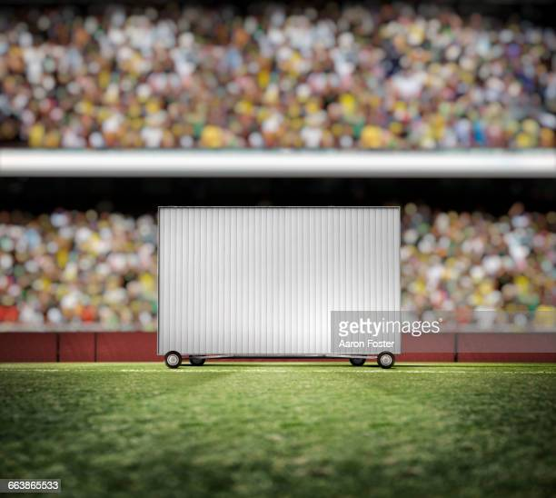 cricket sightscreen - cricket field stock illustrations