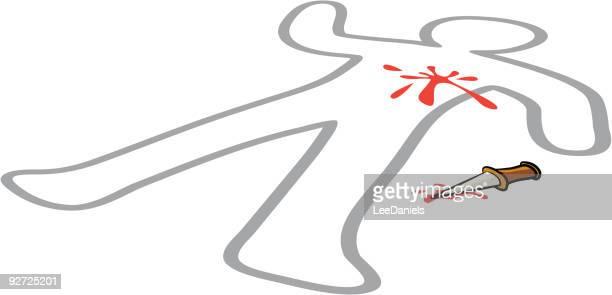 crime scene - animal body stock illustrations, clip art, cartoons, & icons