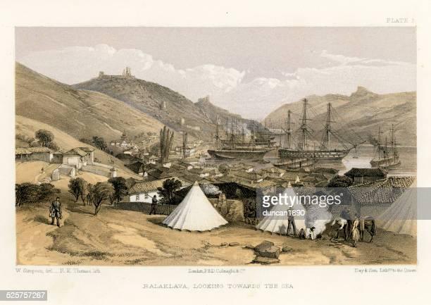 Crimean War -  Balaklava, looking towards the sea