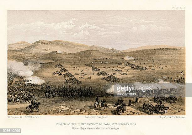 crimean war -  charge of the light brigade - animals charging stock illustrations, clip art, cartoons, & icons