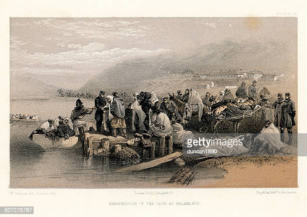 Crimean War -  Embarkation of the sick and wounded