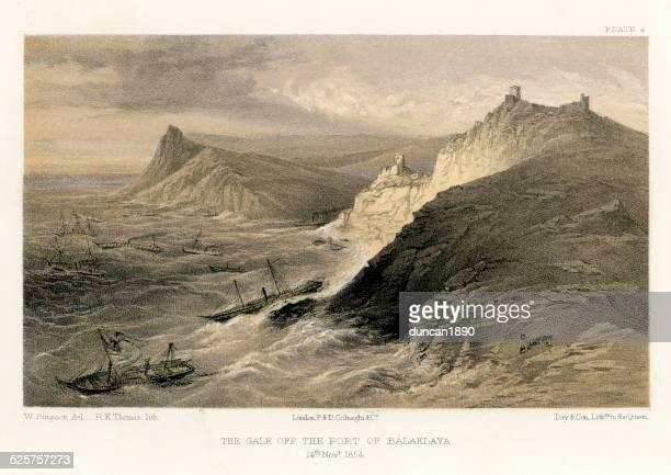 Crimean War -  Gale off the Port of Balaklava
