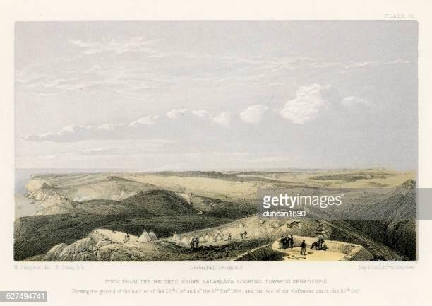 Crimean War - Heights above Balaklava looking towards Sebastopol