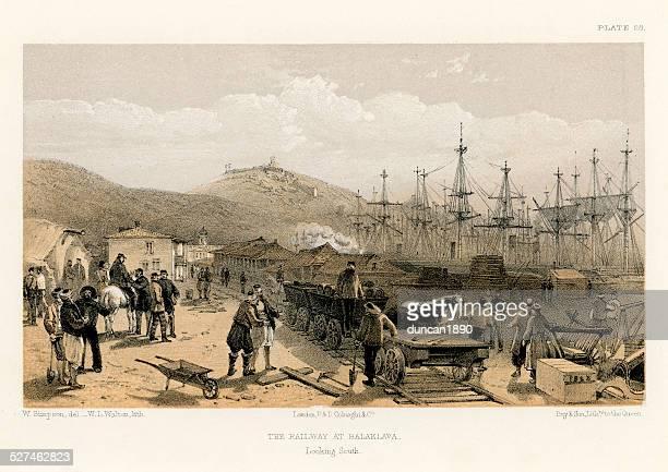 Crimean War -  Railway at Balaklava