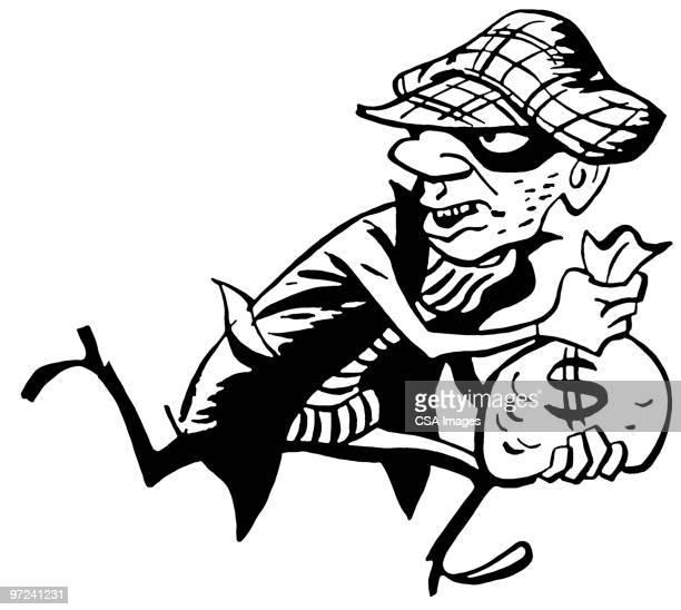 illustrations, cliparts, dessins animés et icônes de criminal - voleur