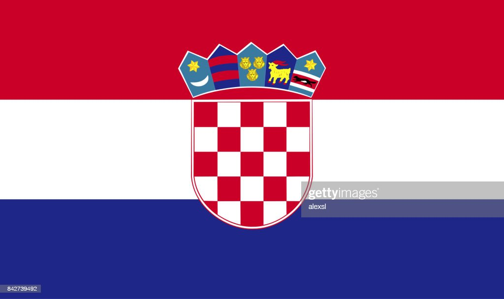 Croatia flag : stock illustration