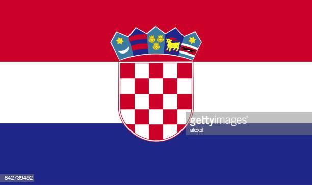 croatia flag - croatian flag stock illustrations, clip art, cartoons, & icons